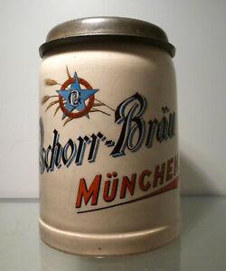 Bierkrug-0-5-Liter-Brauereikrug-Pschorr-Braeu-Muenchen-um-1910