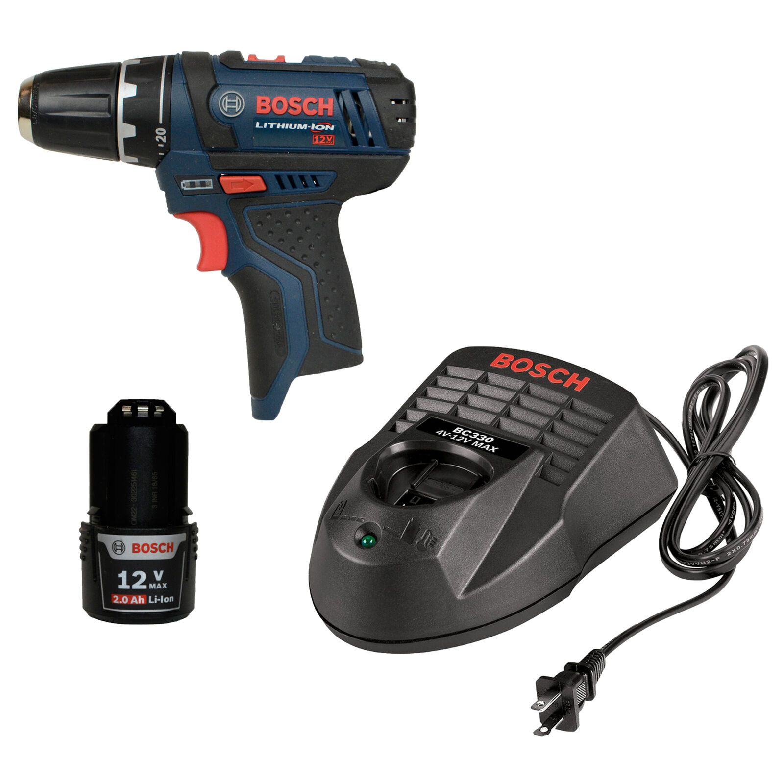 Bosch PS31 10.8-12V Li-Ion Drill Driver with BAT414 Battery and BC330 Charger