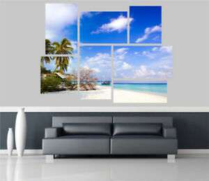 Beautiful-Exotic-Beach-View-Removable-Self-Adhesive-Wall-Picture-Poster-EX-1273