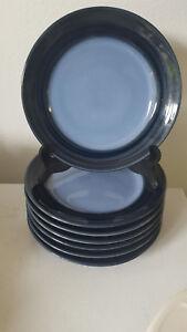 Image is loading Seven-7-Joseph-Abboud-Deep-Sea-Salad-Plates- & Seven (7) Joseph Abboud Deep Sea Salad Plates Excellent!!   eBay