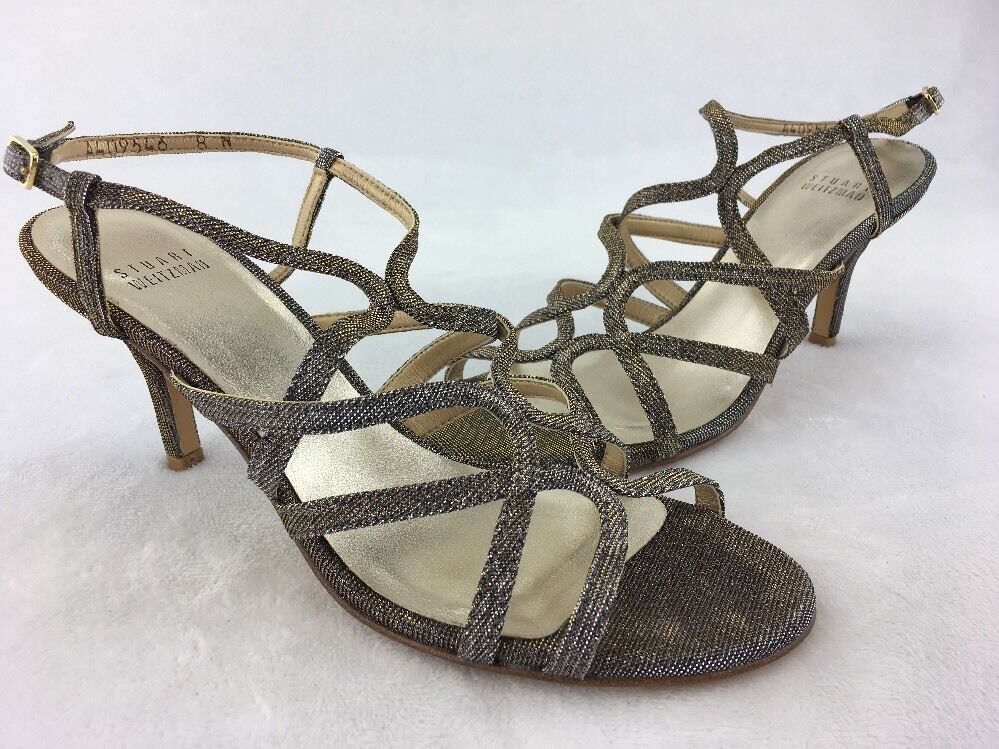 Stuart Size Weitzman Turningup Pyrite Nocturn Slingback Sandal Size Stuart 8N  B175# 4b42a8