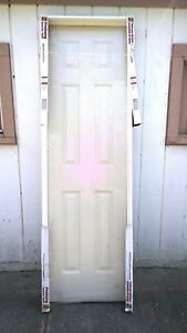 Image is loading NEW-Nice-Pre-Hung-Hollow-Core-6-Panel- & NEW: Nice Pre-Hung Hollow-Core 6-Panel INTERIOR DOOR w/ Built-In ...