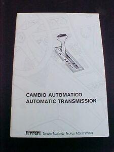 Ferrari 400 Automatic Transmission Workshop Manual Repair Book Cambio 157 78 Oem Ebay
