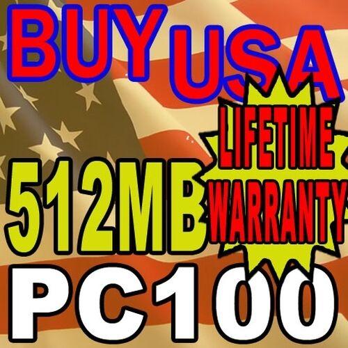512MB Soyo SY-K7VTA-B SDRAM 168-PIN PC100 MEMORY RAM
