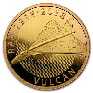 514f19267 2018 Great Britain £2 Proof Gold Royal Air Force (Vulcan) - SKU#169462