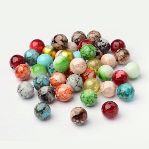 100 Stücke Kostüm Sewing Crafts Buntes Glas Lose Perlen Für DIY