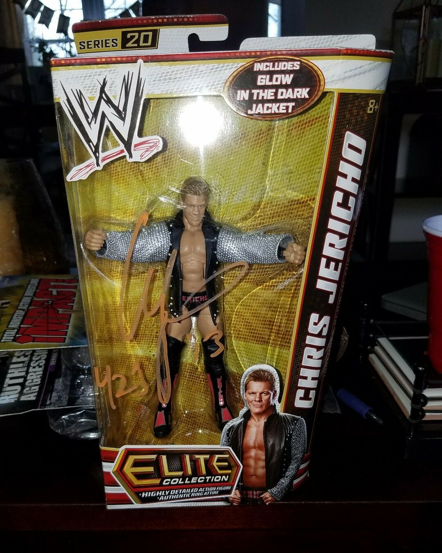 Signed Autographed New Sealed WWE Elite Series 20 Chris Jericho Y2J Wrestling