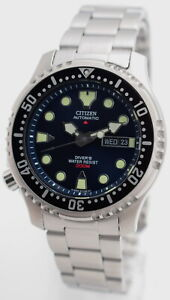 Citizen-PROMASTER-AUTOMATIC-DIVER-039-S-ISO-6425-Stahl-Kunststoffband-NY0040-17L-N