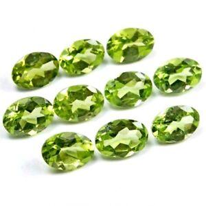 Wholesale-Lot-of-8x6mm-Oval-Facet-Cut-Natural-Peridot-Loose-Calibrated-Gemstone