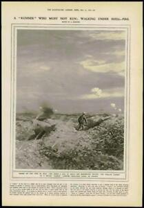 1916 Antique Print  FINE ART PICTURE RUNNER NO MANS LAND ARTIST FORESTIER 176 - KENT, United Kingdom - 1916 Antique Print  FINE ART PICTURE RUNNER NO MANS LAND ARTIST FORESTIER 176 - KENT, United Kingdom