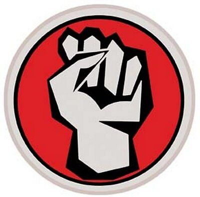 """""""Fight The System""""  Vintage Looking 60's Travel Sticker"""
