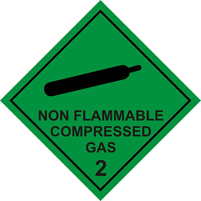 Segnale Di Avvertimento Magnetico Non Infiammabile Gas Compresso-
