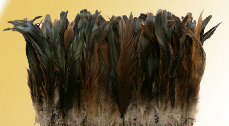 1 4 lb Half Bronze Rooster Tail Coque Feathers 12-14  L