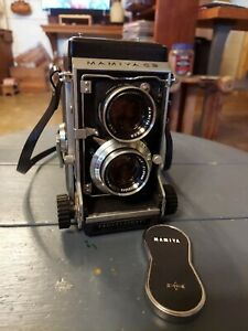 Mamiya C3 Professional Twin Lens TLR Film Camera w/filters accessories