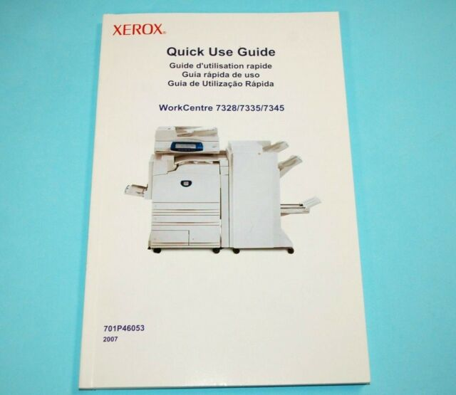 xerox quick use guide workcentre 7328 7335 7345 user manual book rh ebay com Fuser Xerox WorkCentre 7328 Xerox WorkCentre 7346