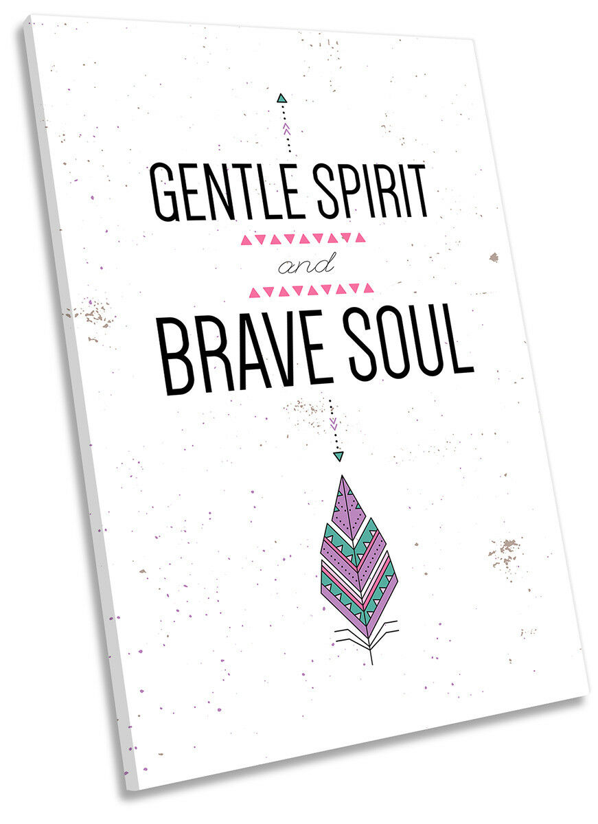 Gentle Spirit Brave Soul Picture CANVAS WALL ART Portrait Print