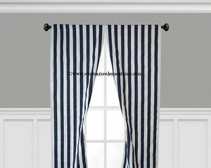 Navy Blue Curtain Panels Window Treatments Drapery Navy Stripe Curtains Drapes
