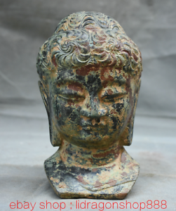 7-2-034-Bronze-Ware-Tibet-Bouddhisme-Shakyamuni-Amitabha-Bouddha-Tete-Buste-Statue