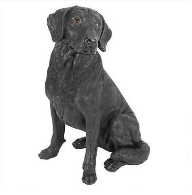 Indoor Outdoor BLACK LAB LABRADOR Animal Dog Canine Pet Statue Sculpture Gift