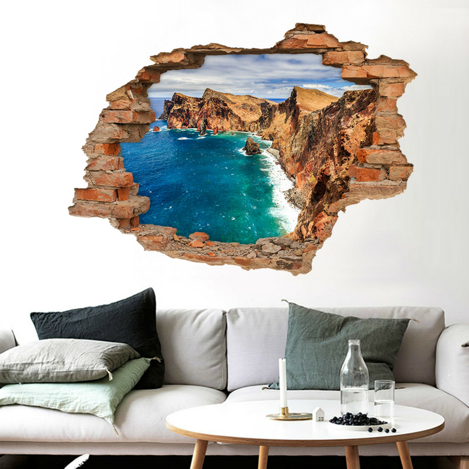 3D Cliff See 688 Mauer Murals Aufklebe Decal Durchbruch AJ WALLPAPER DE Lemon
