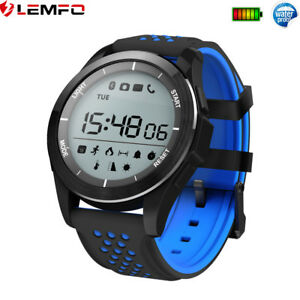 Lemfo Bluetooth Impermeable Reloj Inteligente Podómetro Calories For Android IOS