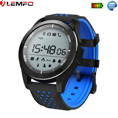 Lemfo Bluetooth Impermeable Reloj Inteligente Podómetro Calories For Android IOS