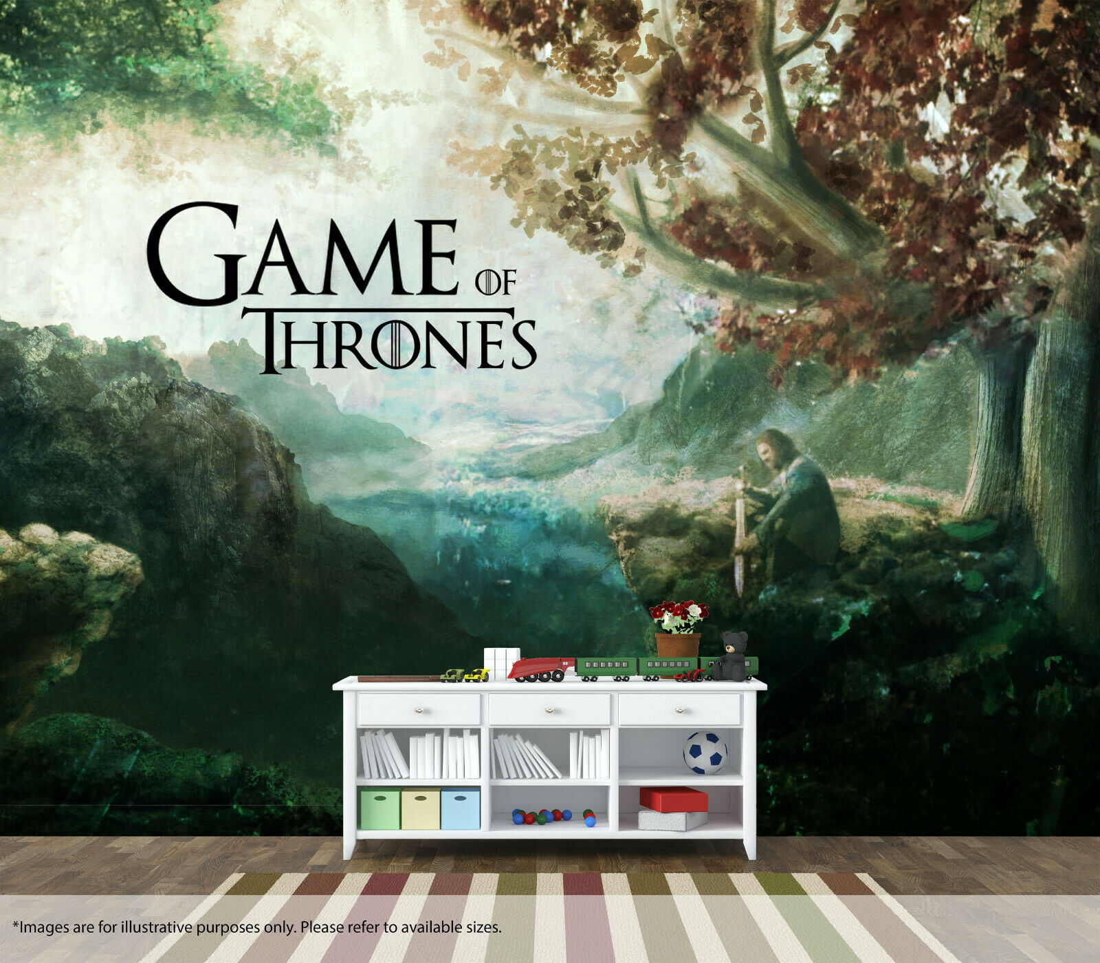 Game Of Thrones Wall Mural Wall Quality Pastable Wallpaper Painting Artwork