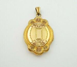 Vintage-Hayward-1-20-12k-GF-Gold-Filled-Floral-Etched-Picture-Locket-Pendant