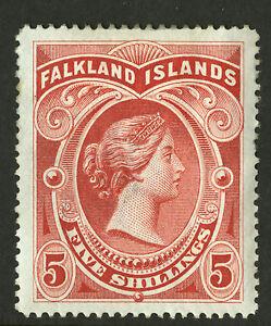 Falkland-Islands-1898-Scott-21-Mint-Hinged