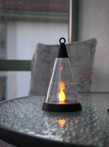 Solar Laterne LED amber schwarz hängend o Außen stehend Gartenlaterne f