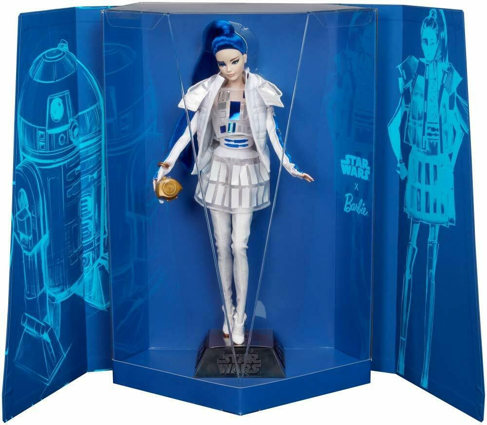 Barbie Star Wars R2-D2 X Barbie Doll with Blau Hair  Collector item Brand New