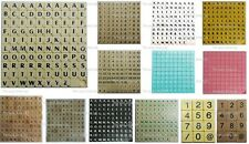 New Scrabble Tiles Letters - 100 Set of Game Pieces Choice of Plastic / Wooden