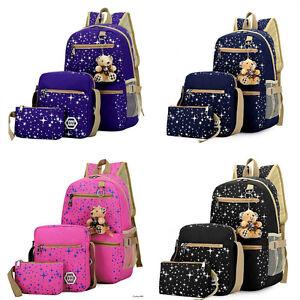 865fc768e448 Image is loading Backpack-Women-Bags-School-Girl-Bookbags-Shoulder-Bag-