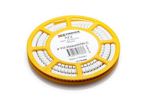 Partex-PA2-Size-D-Cable-Marker-Black-Text-on-White-Marker-Disc-of-250