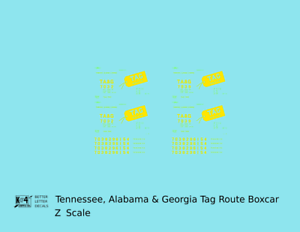 K4-Z-Decals-Tennessee-Alabama-and-Georgia-40-Ft-Boxcar-Yellow-TAG-Route