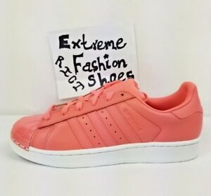 Details about adidas Superstar Metal Toe Women's Shoes Tactile Rose Pink Leather Size 7 7.5