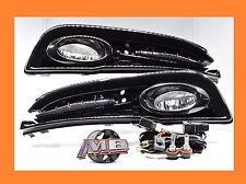 13-15 HONDA CIVIC SEDAN 4DR BUMPER FOG LIGHT LAMPS KIT CLEAR+WIRING+SWITCH-PAIR