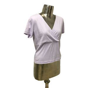 Emreco Top T-Shirt Lilac UK M 12 (EU40) NEW Cotton Women's RRP £22