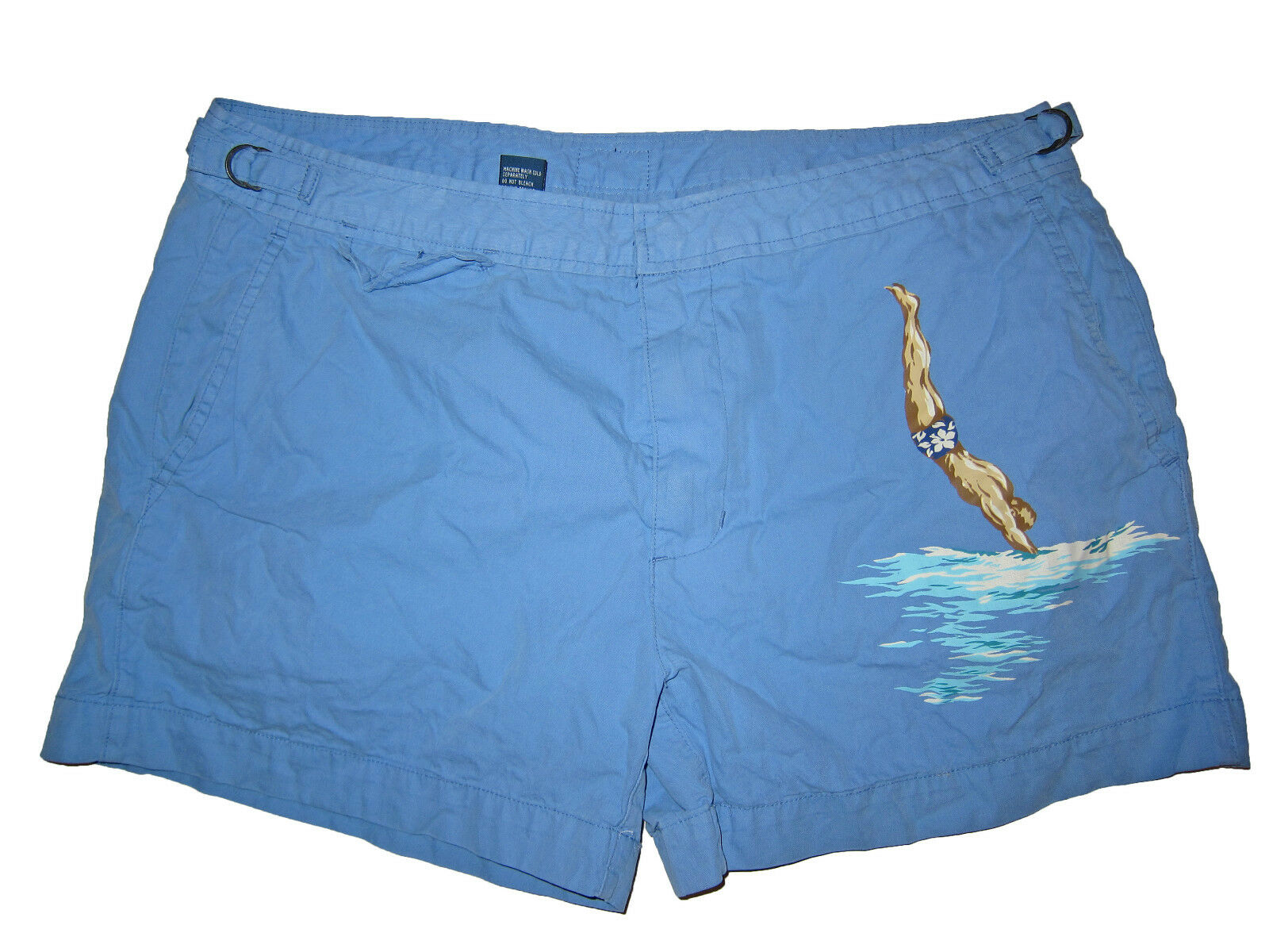 Polo Ralph Lauren bluee Key West Diving Beach Swim Surf Shorts Trunks 36