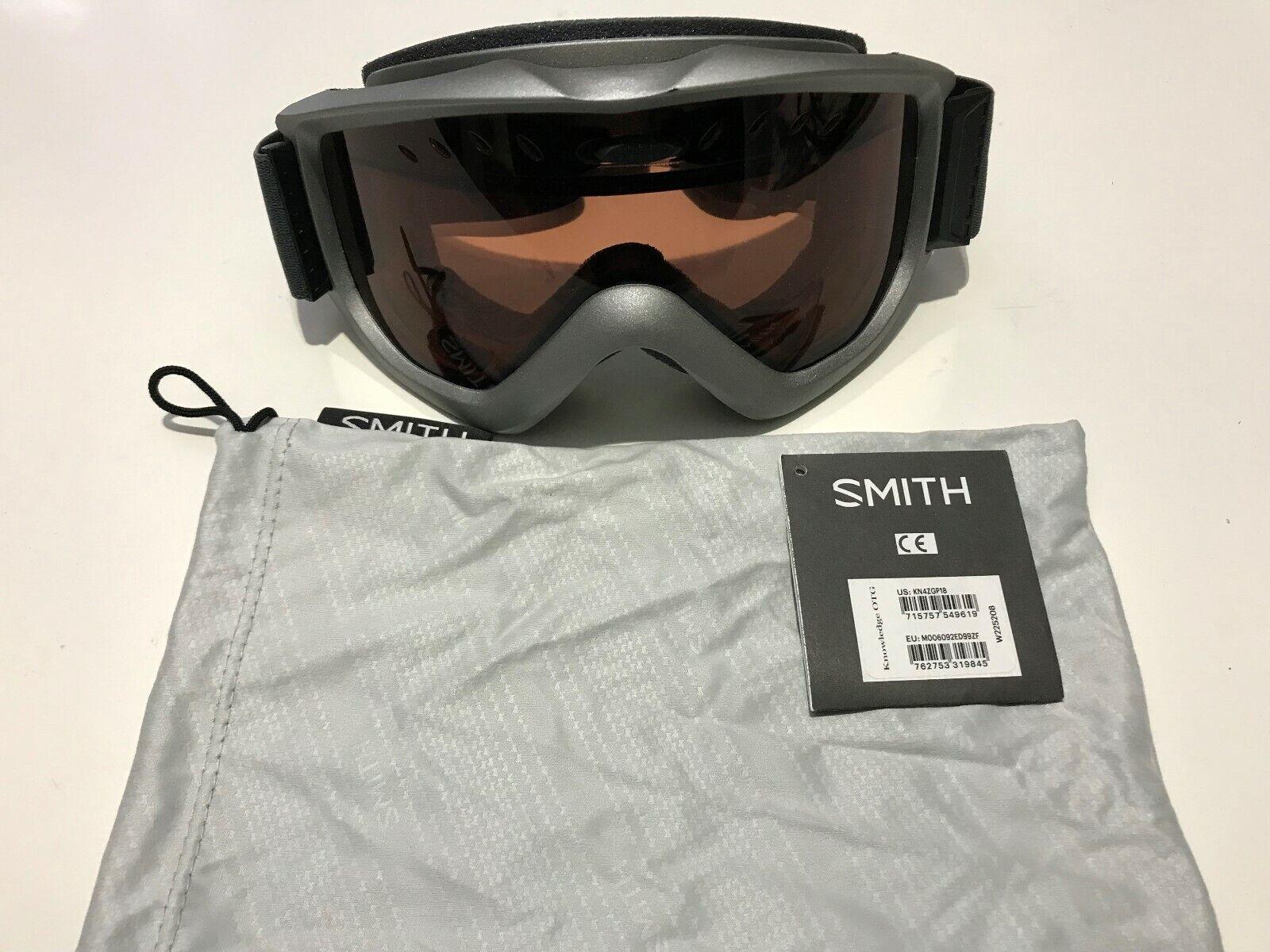 Smith Optics Adult Knowledge OTG Snow Goggles Graphite Frame bluee Sensor Mirror