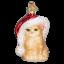 Old-World-Christmas-SANTA-039-S-KITTEN-12366-N-Glass-Ornament-w-OWC-Box thumbnail 1
