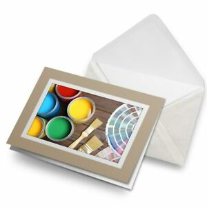 Greetings-Card-Biege-Paint-Brushes-Art-Artist-Fun-2016