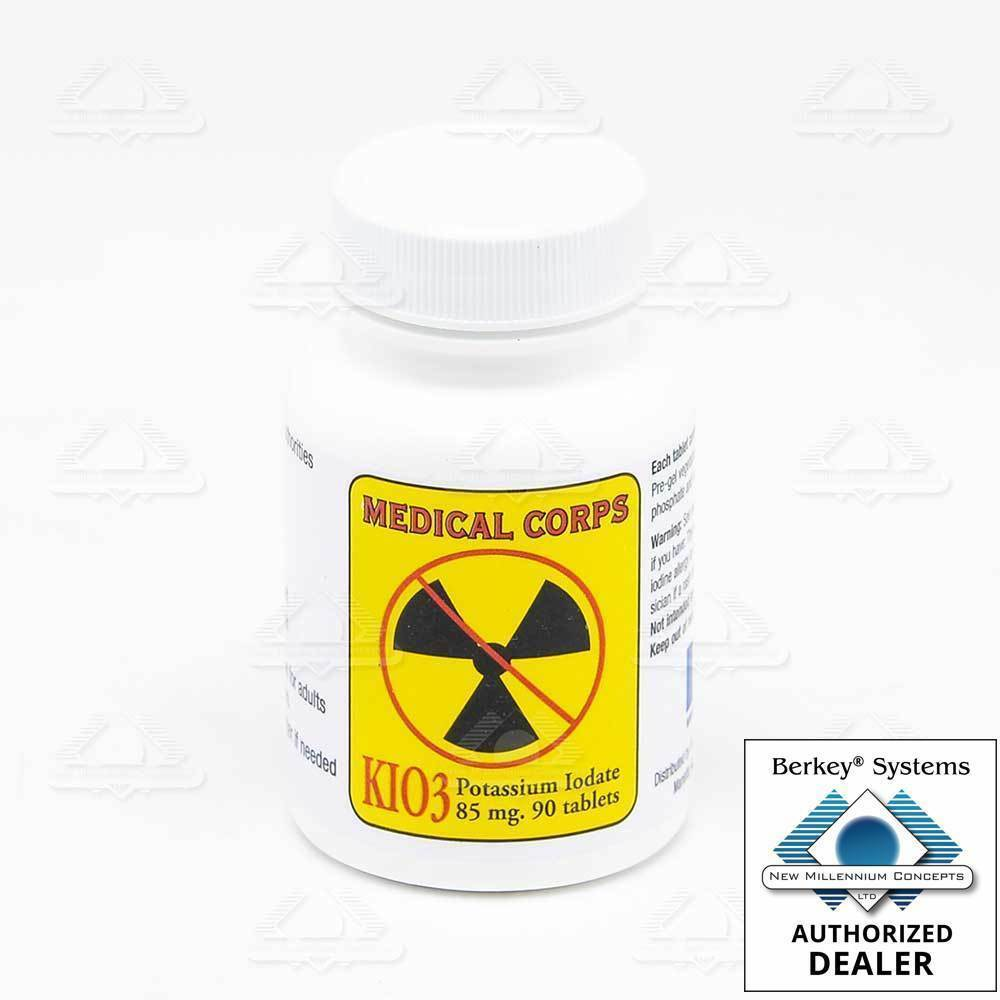 Medical Corps KIO3 Potassium  Iodate Nuclear Anti-Radiation 90 pills 85mg  clearance
