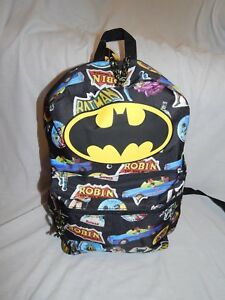 398e7dc1323b NEW Batman Robin Figures Backpack School Book Bag Purse Carry on ...