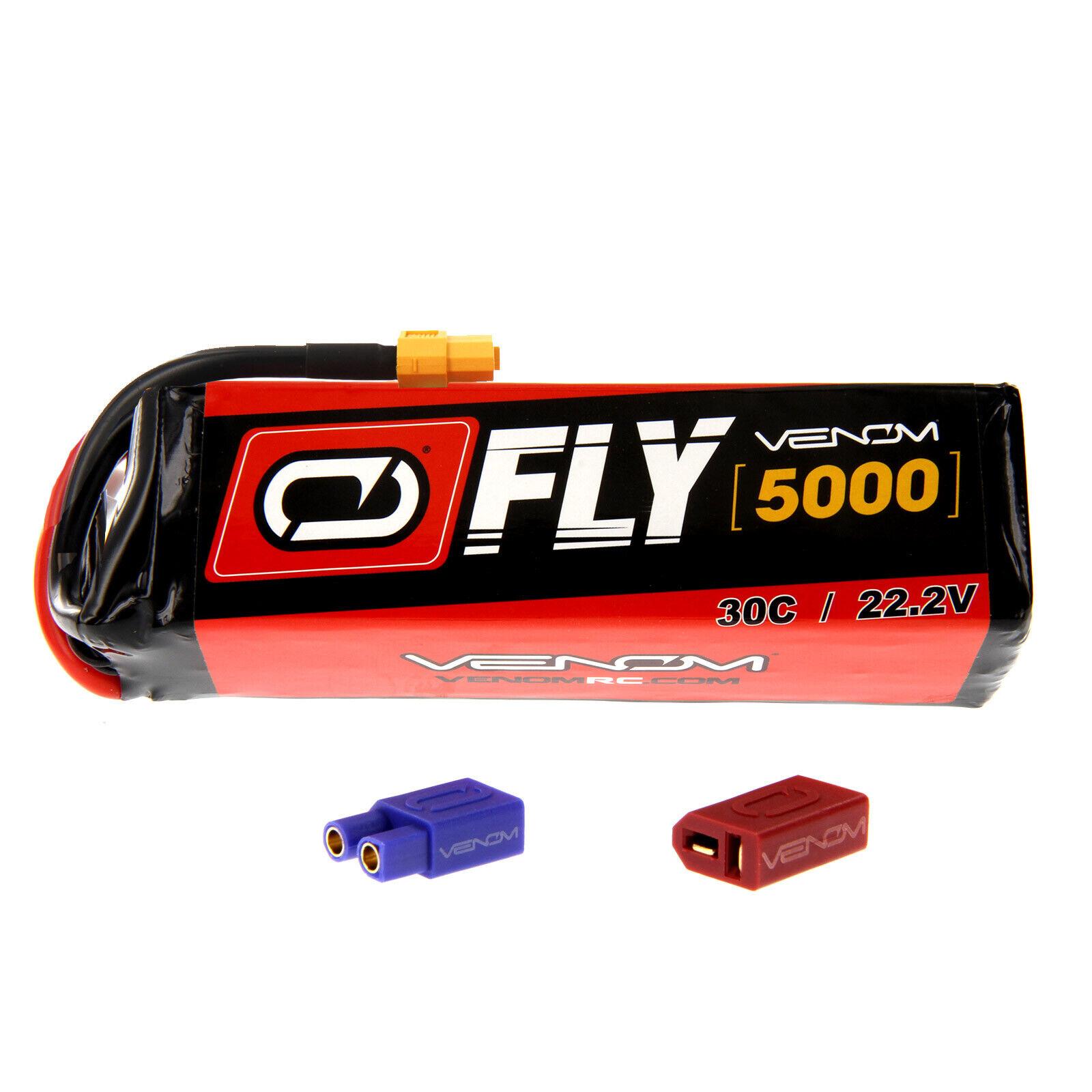 Venom volar 30C 6S 5000mAh 22.2V Batería Lipo Con Enchufe Uni 2.0