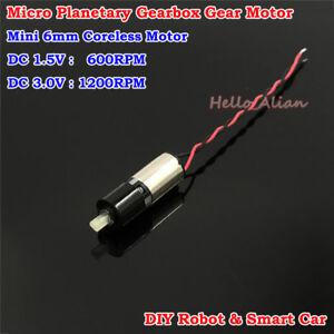 DC 3V Micro Mini 6mm Planetary Gear Reducer Motor Mini Coreless Gearbox Motor