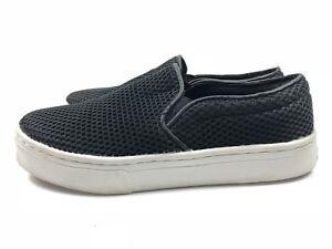 9840ef44ca1b Sam Edelman Lacey Platform Sneakers Women s Slip-On Black Mesh Size ...