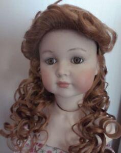 20.3cm Poupées Perruque Blond Fraise Souple Boucles Swept Dos Frange Style 490 0tivuoot-07181539-853677106