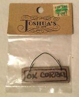 Joshua's Miniature Dollhouse Accessory - Wooden Ok Corral Sign