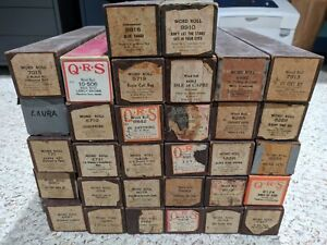 Lot of 32 assorted QRS Player Piano Music Roll